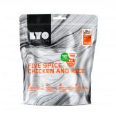 Danie obiadowe podwójne - Kurczak pięciu smaków z ryżem