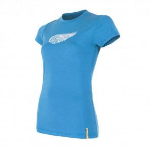 Koszulka termoaktywna damska Sensor Merino ACTIVE PT tee ss Blue Feather