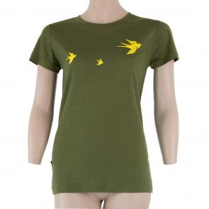 Koszulka termoaktywna damska Sensor Merino ACTIVE PT tee ss Safari Swallow