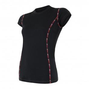 Koszulka termoaktywna damska Sensor MERINO AIR tee ss Black
