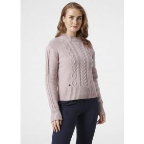 Sweter bawełniany damski Helly Hansen SIREN CABLE KNIT