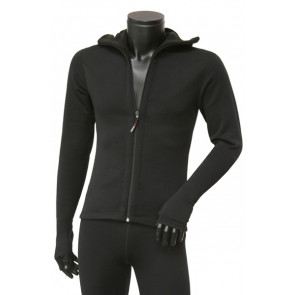 Bluza z kapturem i łapkami rozpinana KWARK Power Stretch Pro 080080