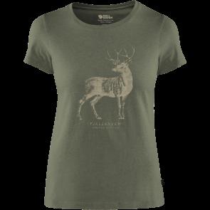T-shirt bawełniany damski Fjallraven DEER PRINT T-SHIRT W