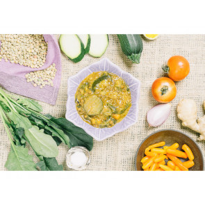 Danie obiadowe pojedyncze - Curry z zielonej soczewicy