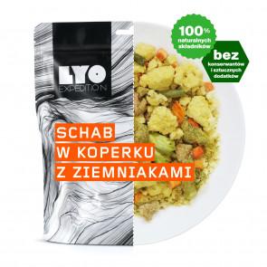 Danie obiadowe duża porcja - Schab w sosie koperkowym LYOFOOD