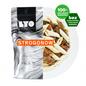 Danie obiadowe mała porcja - Strogonow