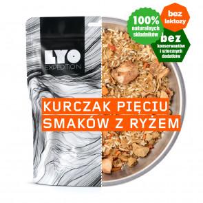 Danie obiadowe mała porcja - Kurczak pięciu smaków z ryżem LYOFOOD