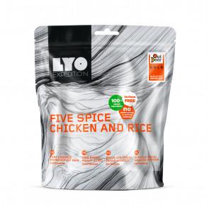 Danie obiadowe duża porcja - Kurczak pięciu smaków z ryżem
