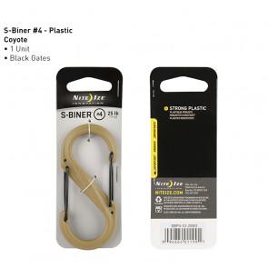 Karabinek S-Biner #4 Plastic Black Gate Coyote