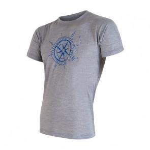 Koszulka termoaktywna męska Sensor Merino ACTIVE PT TEE SS MEN Grey Compass