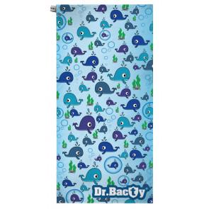 Ręcznik szybkoschnący XL (70x140 cm) Wieloryb
