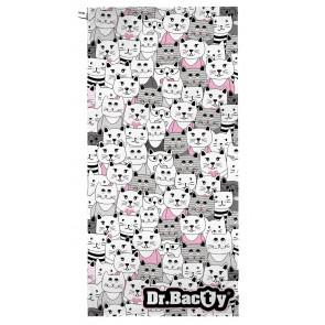 Ręcznik szybkoschnący L (60x130 cm) Kotki Białe