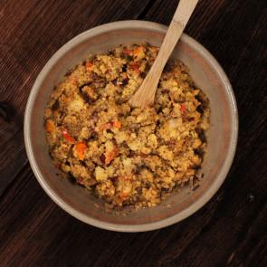 Danie wegańskie mała porcja - EKO Chili sin carne z polentą LYOFOOD