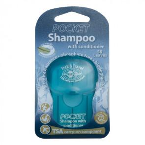 Szampon z odżywką w listkach (50 szt.) Trek & Travel Pocket Conditioning Shampoo