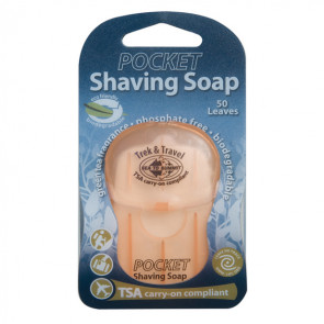 Krem do golenia w listkach (50 szt.) Trek & Travel Pocket Shaving Soap