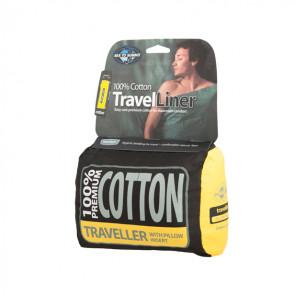 Wkładka do śpiwora Cotton Liner Traveller Granatowa