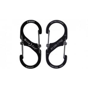 Zestaw karabinków S-Biner SlideLock Set #2#3#4 Czarny